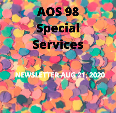 Special Services Newsletter Aug 21, 2020