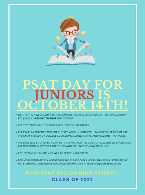 PSAT Day for Juniors is October 14th!
