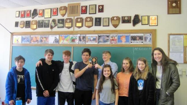 Seahawk math team adds trophy