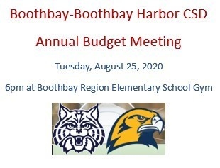 Boothbay-Boothbay Harbor CSD Annual Budget Meeting
