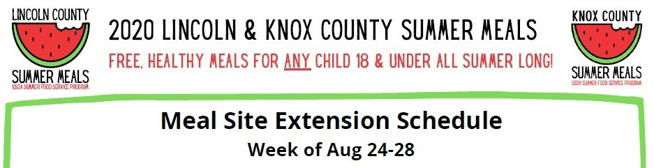 Lincoln County Summer Meals Extended