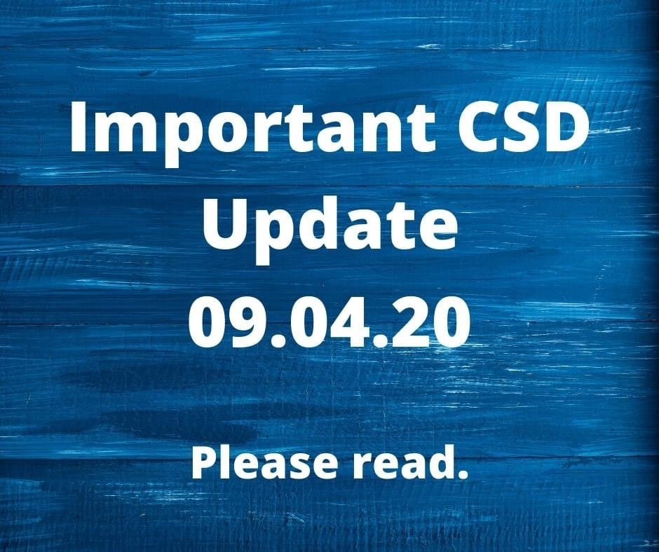 Important Reopening of Schools Update