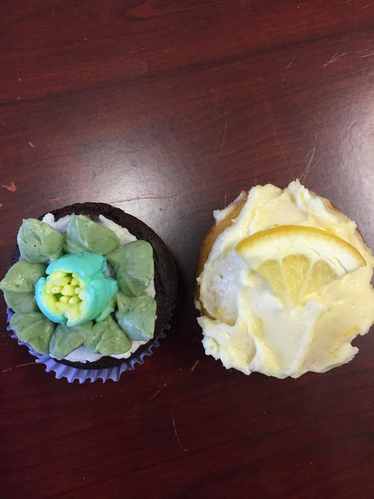 """Little Shop of Horrors"" Cupcake and Fluffy Lemon treat.""Feed me Seymour! Feed me!"""