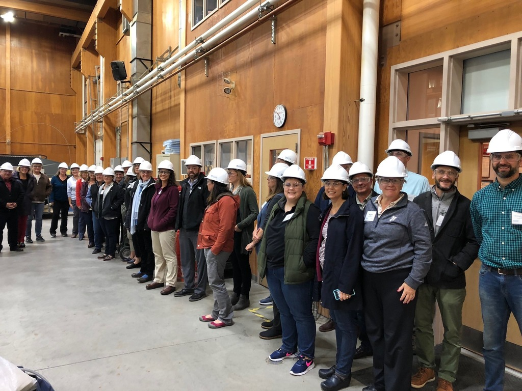 2019-2020 Educational Leadership Experience Theta class at the The University of Maine's Advanced Structures and Composites Center